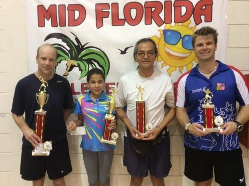 MID-FLORIDA TABLE TENNIS TOUR-JULY CLASSIC 2014 RESULTS